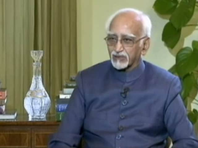 Video : Hamid Ansari To Rajya Sabha: 'Muslims Insecure'