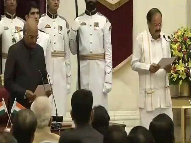 Video : Venkaiah Naidu Takes Oath As The New Vice President Of India