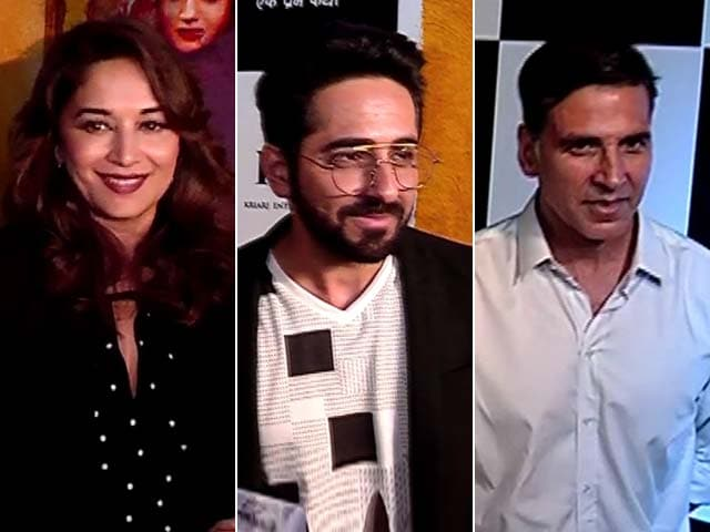 Celebs At The Screening Of Akshay's Toilet - Ek Prem Katha