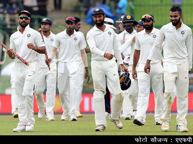 Videos : भारत ने श्रीलंका को पारी और 171 रन से हराकर 3-0 से जीती टेस्ट सीरीज