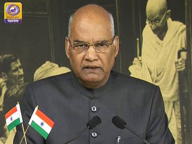 Video : President Kovind Praises Notes Ban, GST In Independence Day Speech