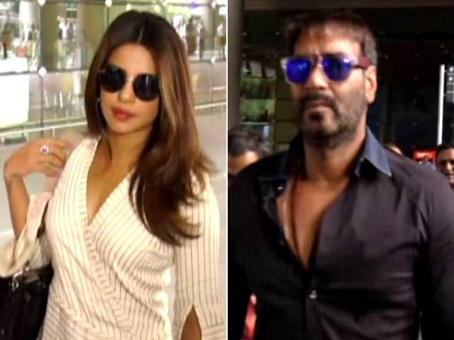 Video : Ajay Devgn & Priyanka Chopra Spotted At Mumbai Airport