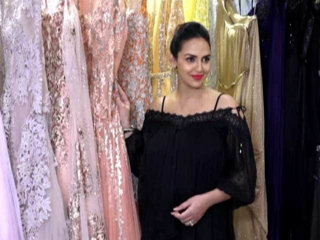 Esha Deol At Neeta Lulla's Store For Her Baby Shower Outfit