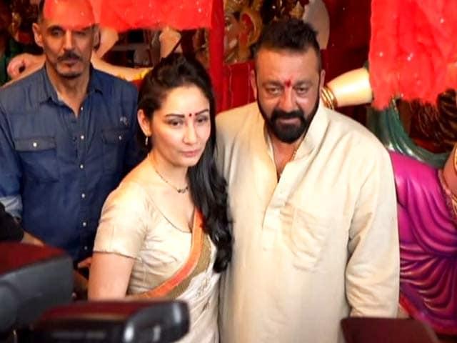 Sanjay Dutt and Wife Manyata Offer Prayers To Lord Ganesha