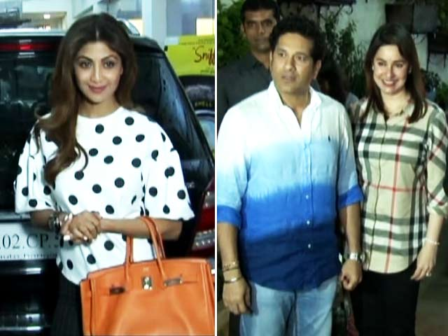 Sachin Tendulkar & Shilpa Shetty At The Screening Of Sniff