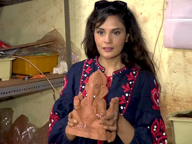 Video : Richa Chadha Sculpts An Eco-Friendly Ganesh Idol
