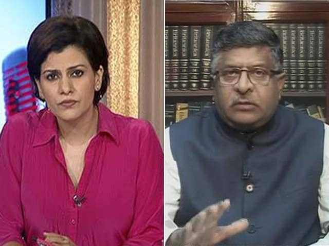 Video : Section 377 Needs Independent Scrutiny: Law Minister Ravi Shankar Prasad To NDTV