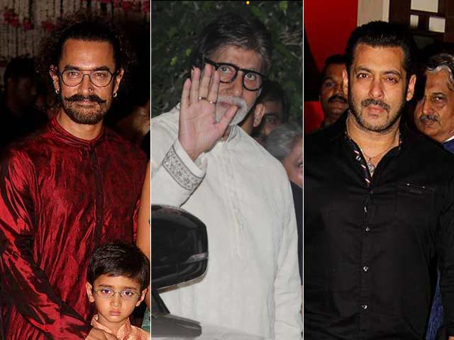 Big B, Aamir, Salman & Other Stars At Ambani's Ganesh Chaturthi Celebrations