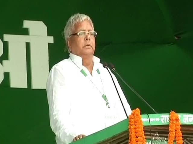 Video : Was Pressured Into Making Nitish Kumar CM, Lalu Yadav Says At Patna Rally