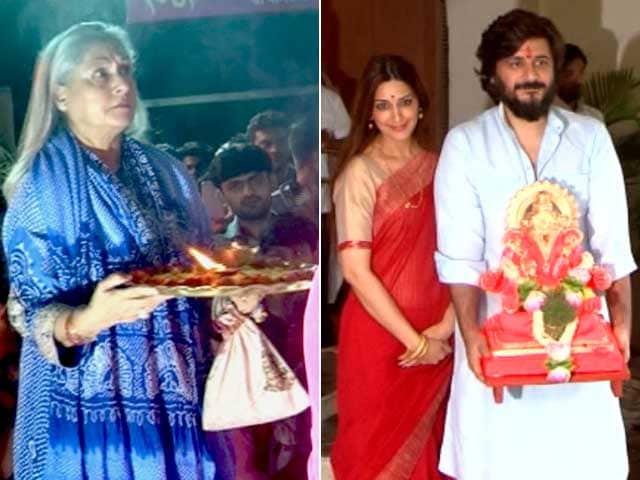 Sonali Bendre And Jaya Bachchan Celebrate Ganesh Chaturthi
