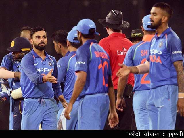 Videos : चौथा वनडे मैच: भारत ने श्रीलंका को 168 रन से हराया