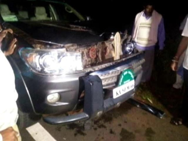Video : SUV Used By BS Yeddyurappa's Son Runs Over Pedestrian, Driver Arrested