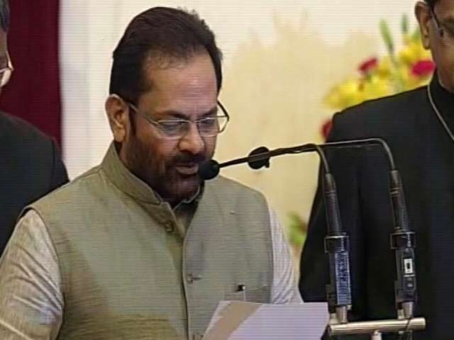 Video : Cabinet Reshuffle: Mukhtar Abbas Naqvi Sworn In