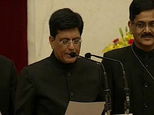 Video : Cabinet Reshuffle: Piyush Goyal Takes Oath