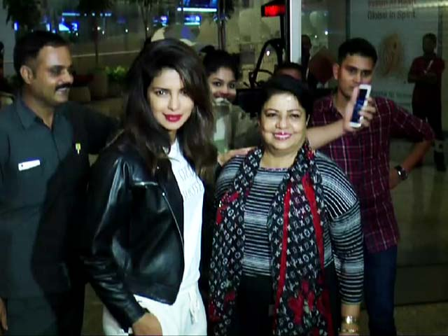 Priyanka Chopra Leaves For Toronto