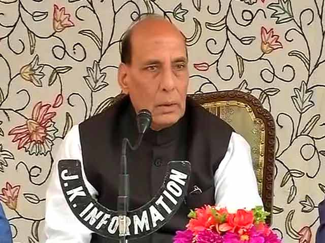 Video : 'Will Visit Kashmir 50 Times A Year If Needed': Rajnath Singh's Outreach