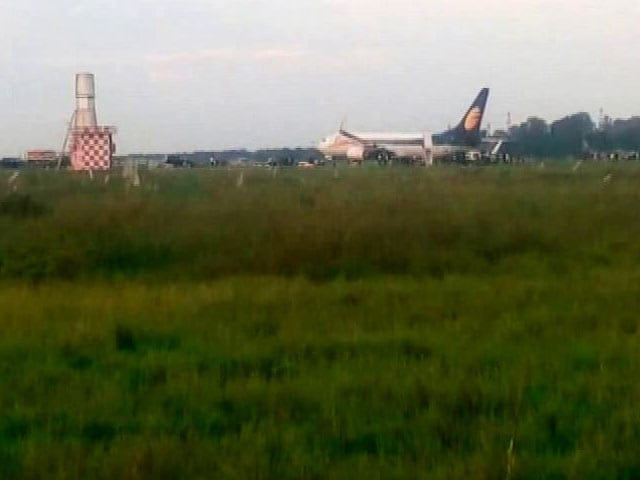 Video : JetLite Flight Veers Off Taxiway In Jorhat, Passengers Deplaned Safely