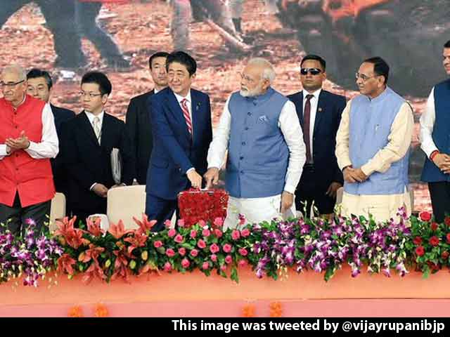 Video : PM Modi, Abe Launch India's First Bullet Train Project