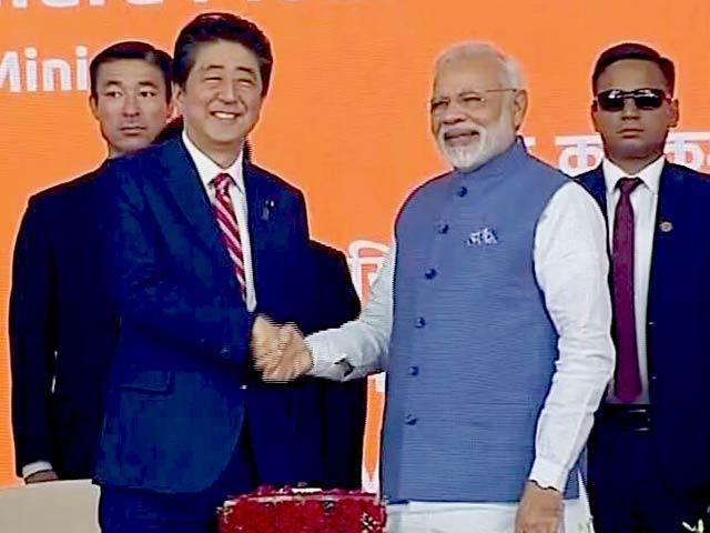 Video : जापानी पीएम शिंजो आबे का भारत में आज दूसरा दिन, बुलेट ट्रेन की नींव रखी