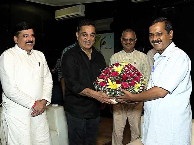 Video : A Superstar As <i>Aam Aadmi</i>: When Kamal Haasan Met Arvind Kejriwal