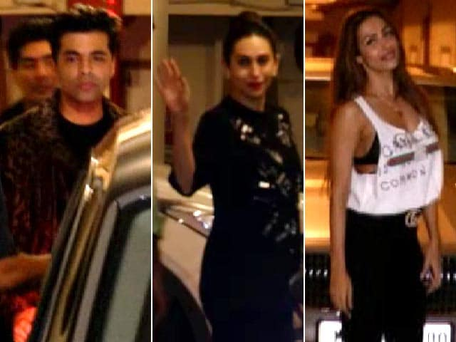 KJO, Karisma, Malaika & Other Stars At Kareena Kapoor's Birthday Bash