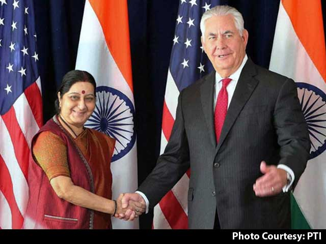 Video : Sushma Swaraj Raises Issue Of Terrorism, H-1B With US Secretary of State