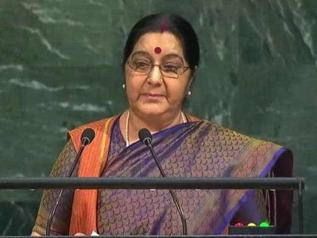 Video : Watch: Full Speech Of Sushma Swaraj At UN