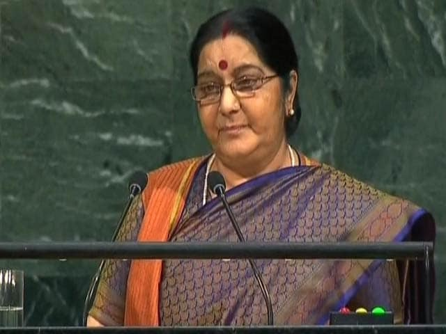 Video : We Made IITs, Pakistan Made Lashkar, Says Sushma Swaraj At UN