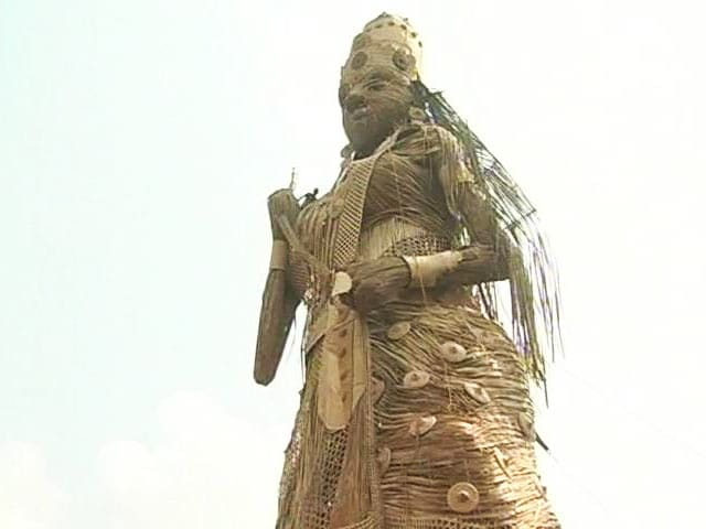 Video : Guwahati's 100-Feet Durga Idol Aims For Guinness Book of Records