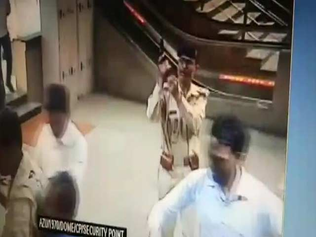 Video : On Camera, Gun Pulled Out, Shot Into The Air At Delhi Metro Station