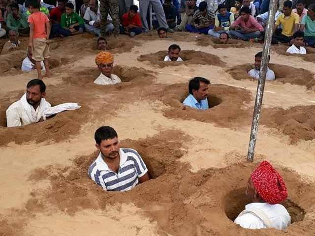 Video : बड़ी ख़बर: जयपुर में किसानों ने शुरू किया जमीन समाधि सत्याग्रह