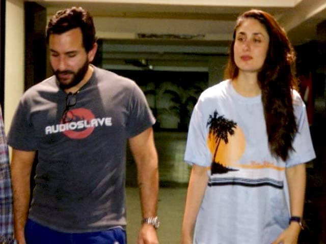 Saif Ali Khan & Kareena Kapoor Snapped Outside Soha Ali Khan's House