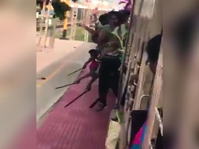 Video : Hanging Out Of Moving Train, Chennai Students Filmed Showing Off Knives