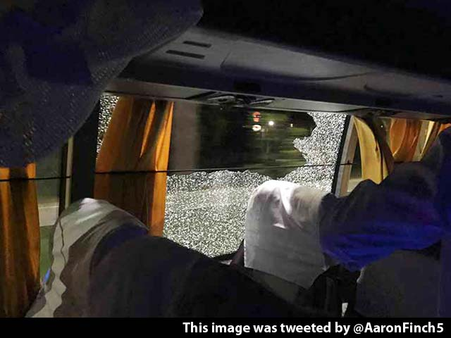 Video : 2nd T20I: Rock Thrown at Australia Cricket Team Bus After Win Over India
