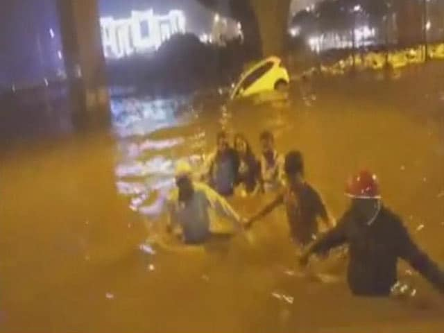 Video : 5 Killed After Heavy Rain In Bengaluru, Woman Rescued From Submerged Car