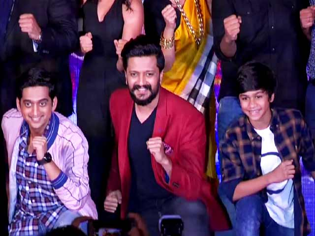 Video : Riteish Deshmukh At The Song Launch Of <i>Faster Fene</i>