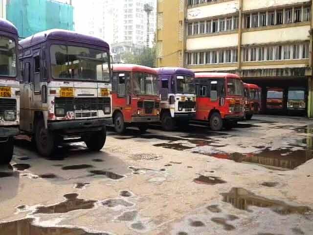 Video : State Transport Buses Go Off The Road In Maharashtra