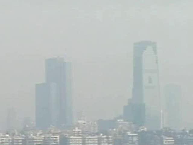 Video : Ahead Of Diwali, Mumbai Skyline Covered In Haze This Morning