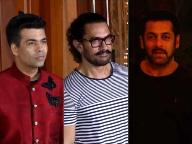 Aamir, Salman, KJO & Other Stars At Sanjay Dutt's Diwali Bash