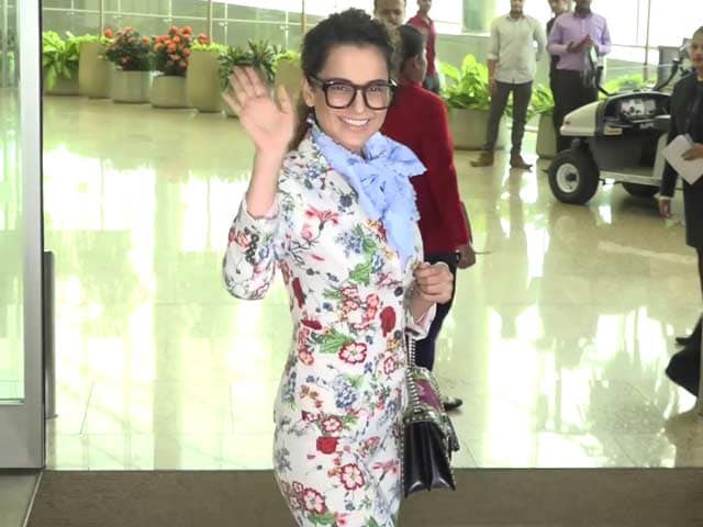 Check Out Kangana Ranaut's High-End Fashion Airport Look