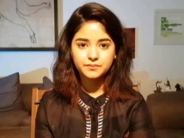 Video : Don't Agree With The Term 'Role Model': Zaira Wasim