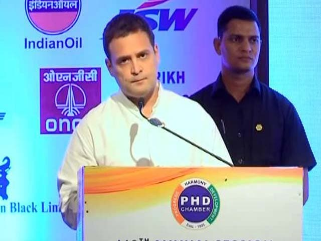 Video : GST A Tsunami Of Terror Tax, Says Rahul Gandhi