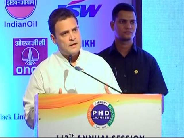 Video : 'Demonetisation, Bang! GST, Bang! Two Shots To The Chest,' Says Rahul Gandhi