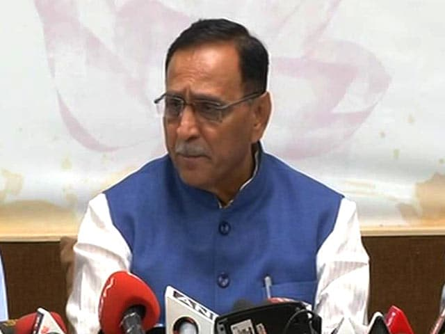 Video : Vijay Rupani Links Terror Suspects To Ahmed Patel, 'Absurd' Says Congress