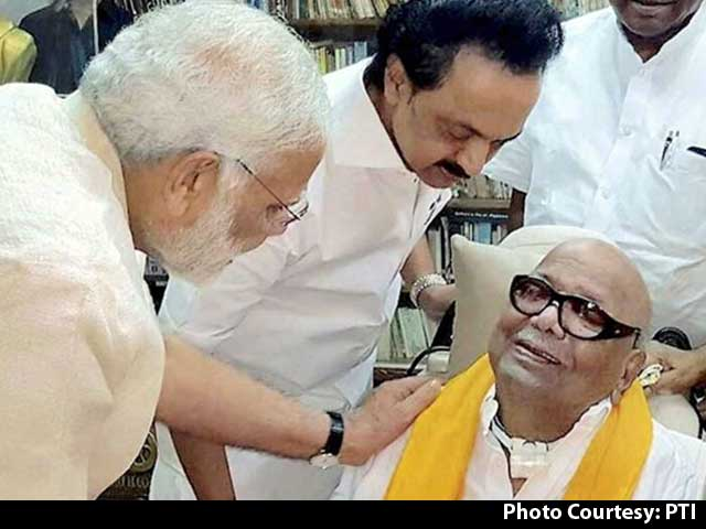 Video : Timing Of PM Modi's Meeting With DMK's Karunanidhi Fuels Talk