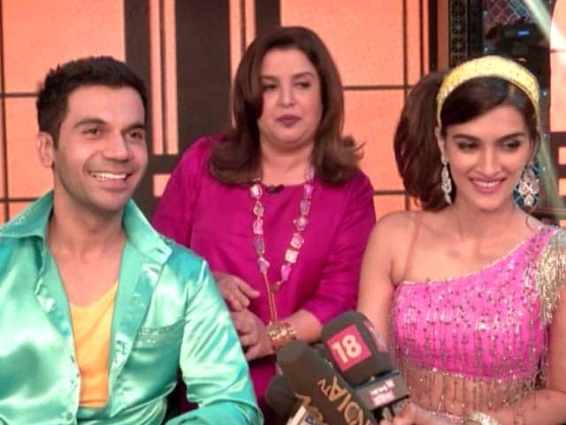 Kriti & Rajkummar On The Sets Of Farah Khan's Lip Sing Battle