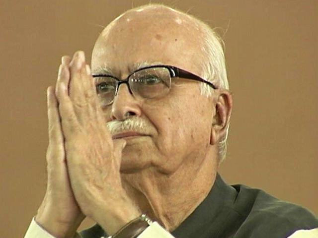 Video BJP Veteran LK Advani Turns 90 Celebrates With Visually Impaired Children