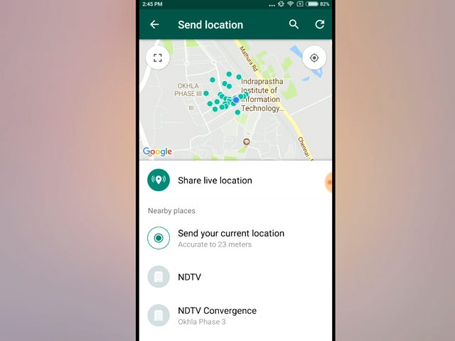 Video : How to Share Live Location on WhatsApp