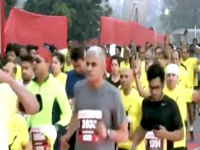 Video : Pollution No Bar. Around 35,000 Run The Delhi Half Marathon