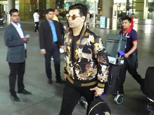 Video : Spotted! Karan Johar At Mumbai Airport